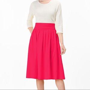 EShakti Smocked Elastic Waist Cotton Knit Skirt